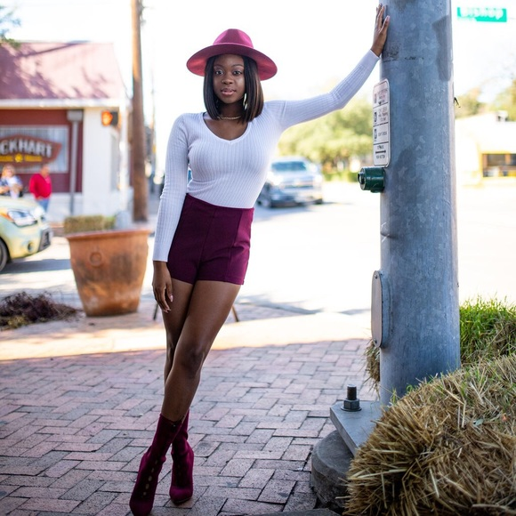 Forever 21 Pants - Forever21 Maroon Shorts
